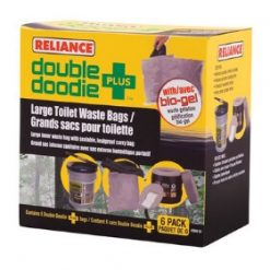 Reliance Double Doodie PLUS - Portable Toilet Waste Bags - Stadium Pal