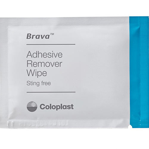 Brava Coloplast adhesive remover wipe - sting-free - external catheter adhesive remover