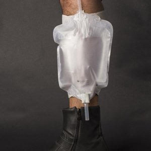 Stadium Pal portable urinal leg bag