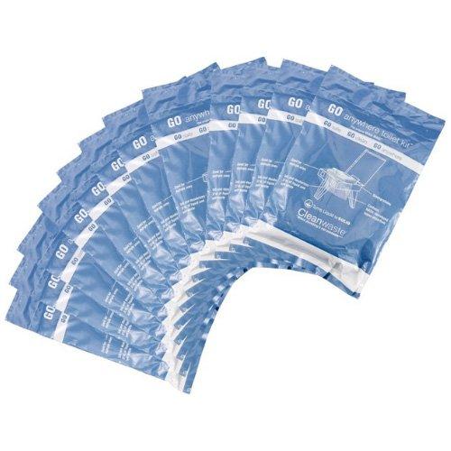CleanWaste - GO anywhere toilet waste kit 12 pack wastedisposal