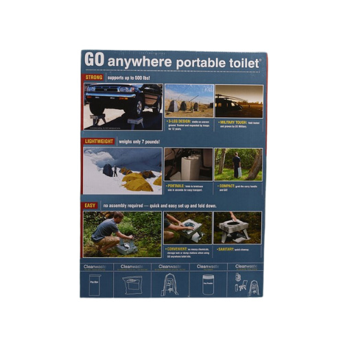 GO Anywhere Portable Toilet - PETT - Examples of Use - Back of Box