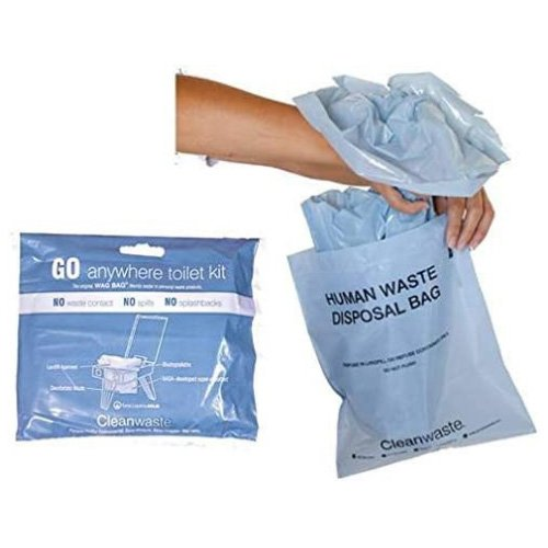 GO anywhere toilet waste bags - 12 pack - CleanWaste